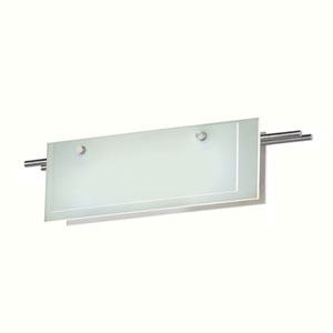 Suspended Glass Slim Satin Nickel LED 22-Inch Bath Fixture Strip