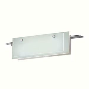 Suspended Glass Slim Satin Nickel LED 22-Inch Bath Fixture Strip