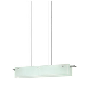 Suspended Glass Slim Satin Nickel LED 36-Inch Pendant