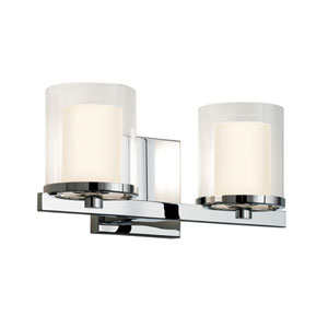 Votivo Polished Chrome Two-Light Wall Sconce