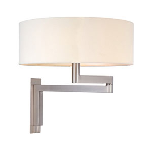 Osso Satin Nickel Swing Arm Sconce
