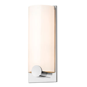 Tangent Polished Chrome Three-Light Round Wall Sconce with White Shade