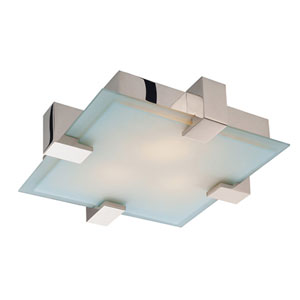 Dakota Polished Nickel Four-Light Flush Mount