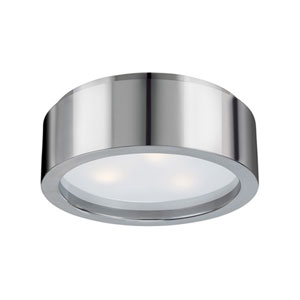 Puck Small Polished Nickel Flush Mount