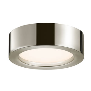 Puck Slim Polished Nickel LED 8-Inch Flush Mount