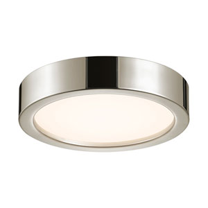 Puck Slim Polished Nickel LED 12-Inch Flush Mount