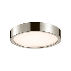 Puck Slim Polished Nickel LED 15-Inch Flush Mount