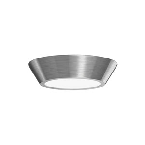 Oculus Satin Nickel 10-Inch LED Flush Mount