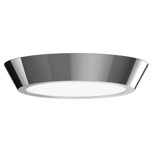 Oculus Polished Nickel 16-Inch LED Flush Mount