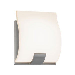 Aquo Satin Nickel LED 5-Inch One Light Wall Sconce
