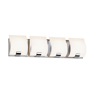 Aquo Polished Chrome LED 23.5-Inch Four Light Bath Fixture