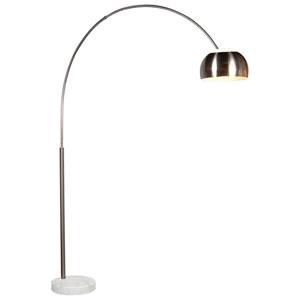 Arc Satin Nickel Floor Lamp