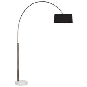 Arc Shade Satin Nickel 78.5-Inch One Light Floor Lamp