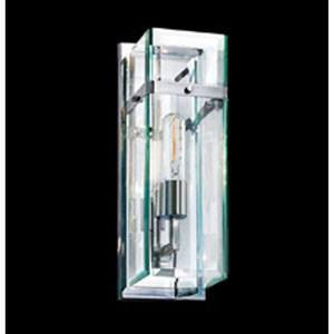Mercer Street One-Light - Polished Chrome with Clear Beveled Glass - Wall Sconce