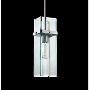 Mercer Street One-Light - Polished Chrome with Clear Beveled Glass - Pendant