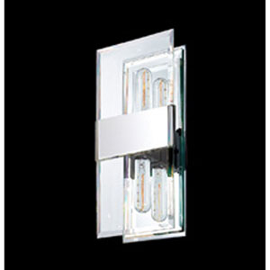 Mercer Street Two-Light - Polished Chrome with Clear Beveled Glass - Wall Sconce