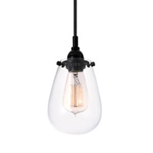Chelsea One-Light - Satin Black with Clear Glass - Pendant