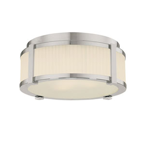 Roxy Small Polished Nickel Flush Mount Ceiling Light