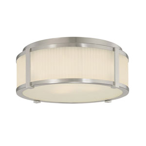 Roxy Large Satin Nickel Flush Mount Ceiling Light