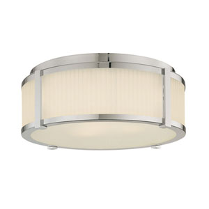 Roxy Large Polished Nickel Flush Mount Ceiling Light