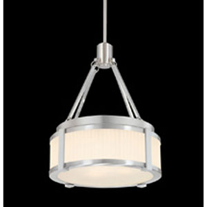 Roxy Satin Nickel Two Light 12.5-Inch Pendant