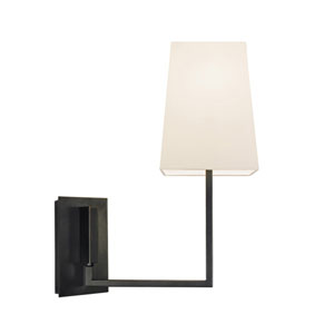 Verso Black Brass One-Light Wall Sconce