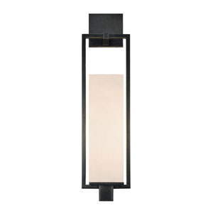 Metro Black Brass One-Light Wall Sconce