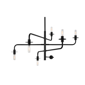 Atelier Six-Light - Satin Black - Pendant