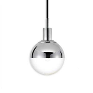 Orb One-Light - Polished Chrome with Half - Mercury Glass - Pendant