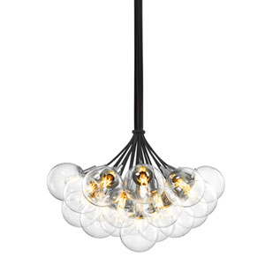 Orb 19 Light - Polished Chrome with Clear Glass - Pendant
