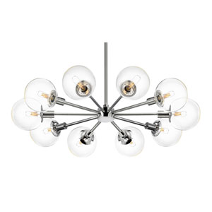 Orb 10 Light - Polished Chrome with Clear Glass - Pendant