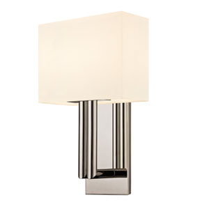 Madison Polished Nickel 9-Inch Two Light Wall Sconce