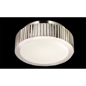 Paramount Two-Light  - Polished Nickel with Polished Nickel Metal Shade - Light Fixture