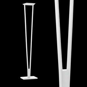 V-Torch Satin White LED Torchiere/Floor Lamp