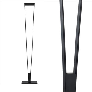 V-Torch Satin Black LED Torchiere/Floor Lamp