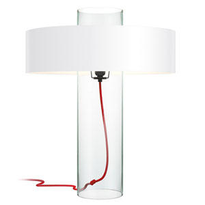 Level Clear Glass One-Light Table Lamp with Clear Shade