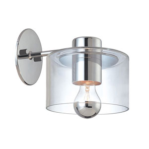 Transparence Polished Chrome Sconce Extension