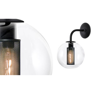 Tribeca 10 Inch One-Light - Textured Black with Clear Glass - Wall Sconce