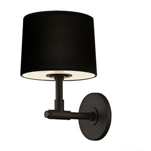 Soho Satin Black One Light 8-Inch Wall Sconce