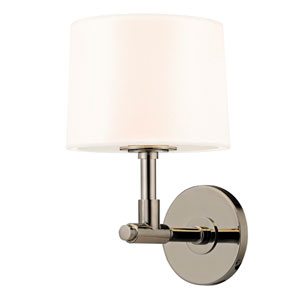 Soho Polished Nickel One Light 8-Inch Wall Sconce