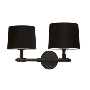 Soho Satin Black 20.5-Inch Two Light Wall Sconce