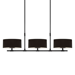 Soho Satin Black 53.75-Inch Six Light Linear Pendant
