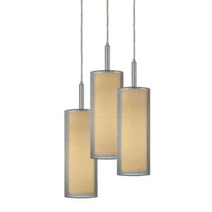 Puri Satin Nickel Three-Light Mini Pendant