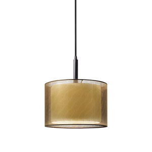 Puri Black Brass One-Light Mini Pendant
