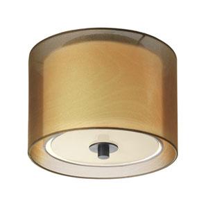 Puri Black Brass One-Light Flush Mount