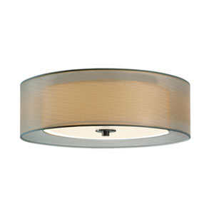 Puri Satin Nickel Two Light 16-Inch Flush Mount