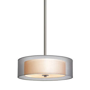 Puri Small Satin Nickel Drum Pendant