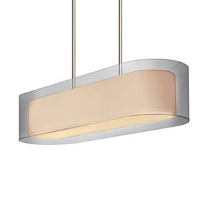 Puri Satin Nickel Four-Light Island Pendant