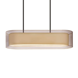 Puri Black Brass Four-Light Island Pendant