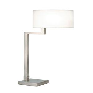 Quadratto Satin Nickel Swing Table Lamp